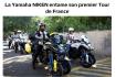 Yamaha Niken : moto d'assistance officielle des courses cyclistes les plus prestigieuses.